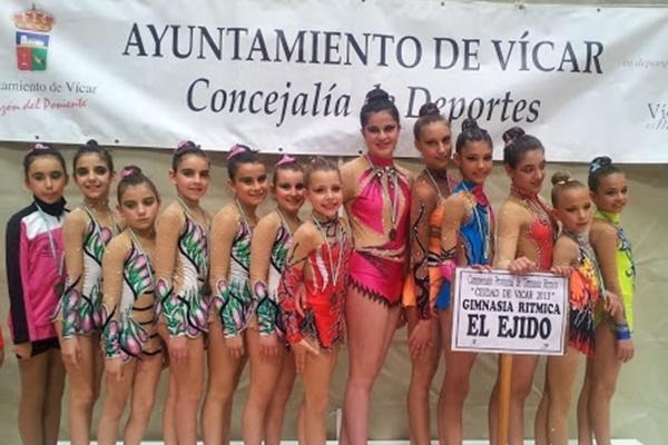 La gimnasia rítmica tiene cada vez más repercusión en la provincia de Almería