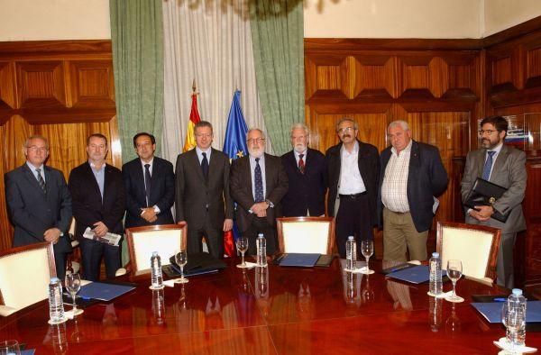 Miguel Arias Cañete, Alberto Ruiz Gallardón, Pedro Barato y directivos ASAJA 1