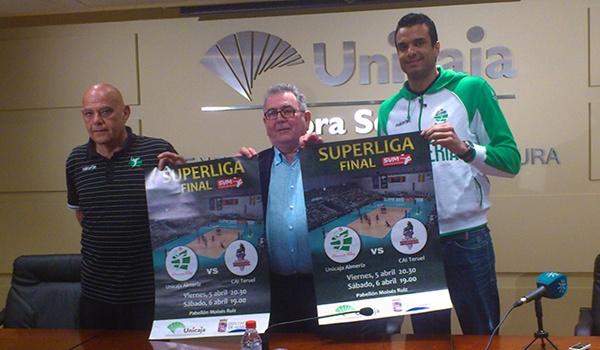 Presidente, entrenador y jugador de Unicaja Almería presentan la final de la Superliga