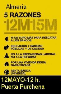 15M manifestación 12 de mayo