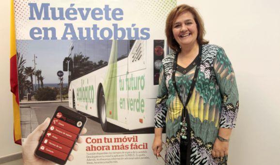 Maria Muñiz campaña Muevete en autobus