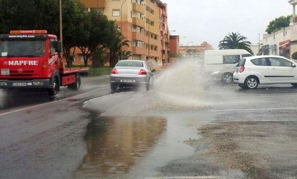Aviso amarillo por tormetas y lluvia en Almería capital y Poniente
