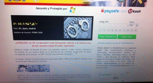 New version virus_policía