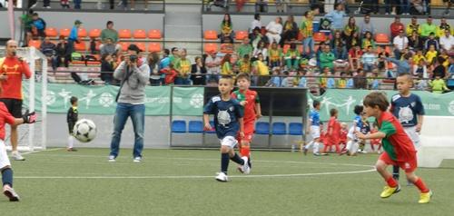 El equipo de Almería de fútbol base en la Baby World Cup de Estepona
