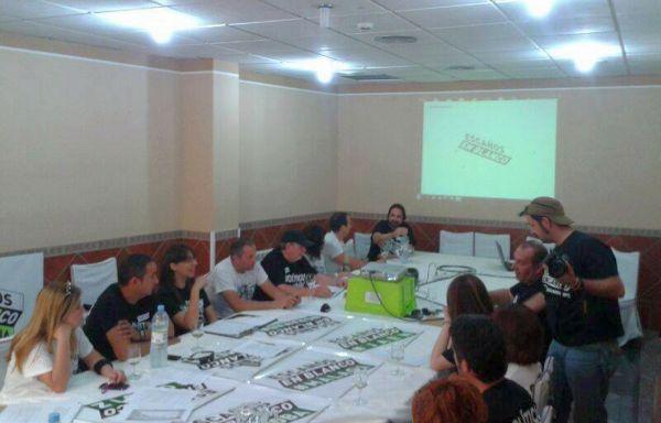 Integrantes de Escaños en Blanco Andalucía en la Asamblea Constituyente