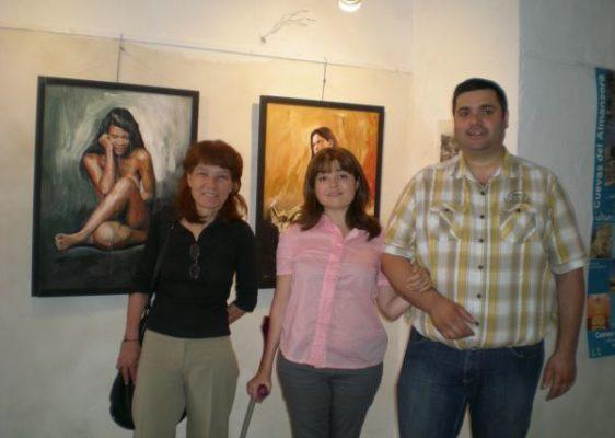 La artista con Lola Moreno y Francisco Rodríguez