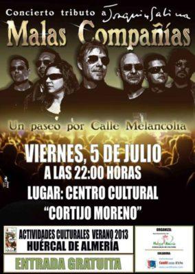 .Carte concierto Tributo a Joaquin Sabina en Huercal de Almeria