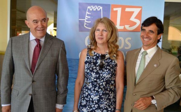 Domingo Bello con Jose Guerrero y Maria Dolores Ortega