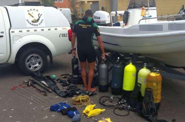 Pesca submarina ilegal