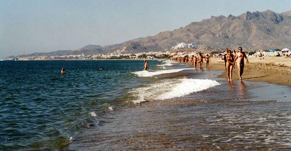 Playa nudista de Vera