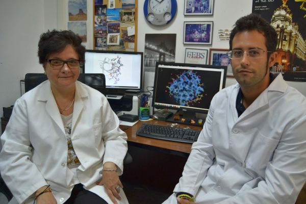 Ana Camara y Julio Bacarizo investigadores UAL