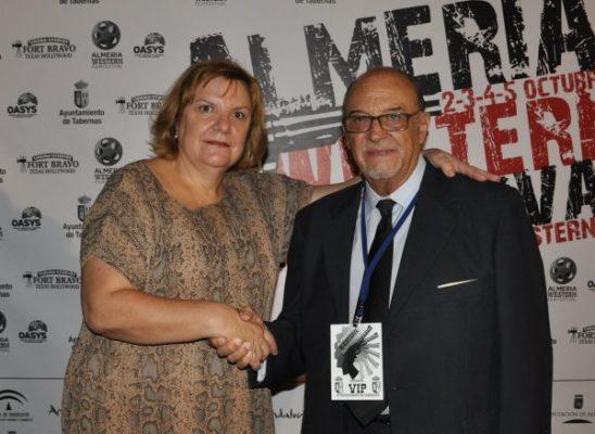 Alcaldesa de Tabernas y Rafael Marchnet