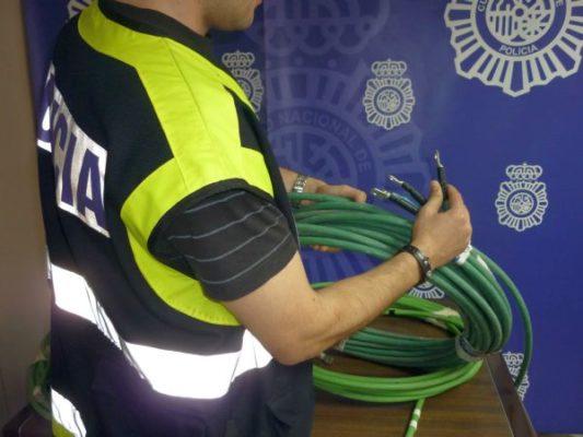 cable tendido eléctrico