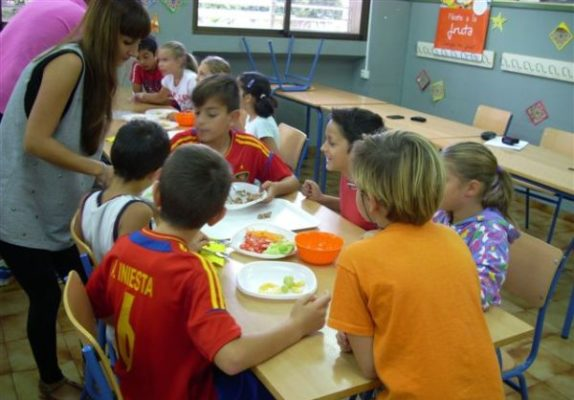 Escolares comedor