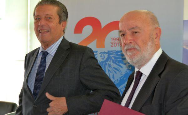 Federico Mayor Zaragoza y Pedro Molina