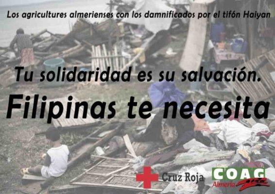 cartel campaña Ayuda a Filipinas