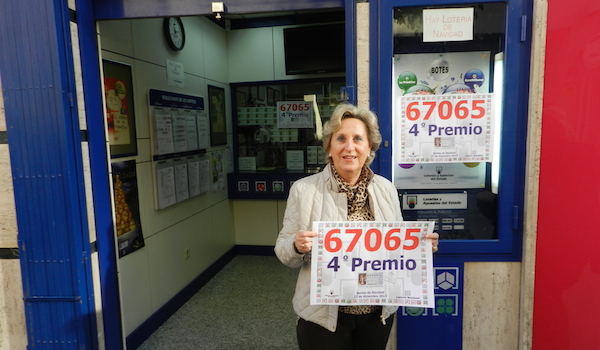 Lotería Nacional Sorteo de Navidad cuarto premio en Almería