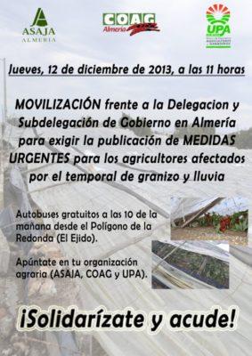 cartel movilización granizada
