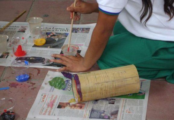 Instrumentos material reciclable
