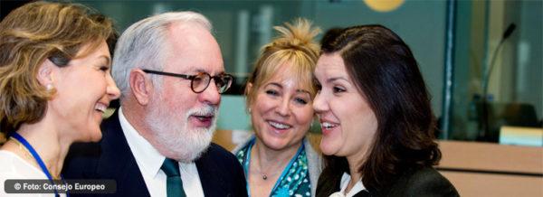 : El ministro Arias Cañete, en la reunión de ministros de Agricultura de la UE hoy en Bruselas (Foto: Consejo Europeo)