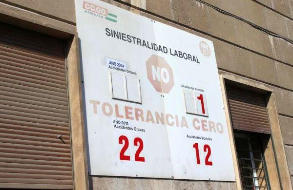 Contador de siniestralidad laboral de la provincia de Almería