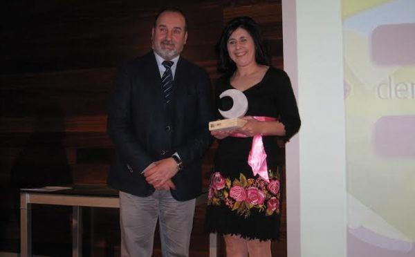 Carmen Román y el delegado de Agricultura