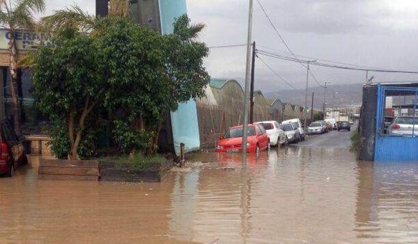 Inundaciones Roquetas. Foto Alhamilla Radio Mar