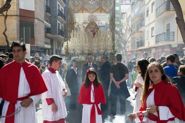 Procesión del Domingo de Ramos en la capital almeriense