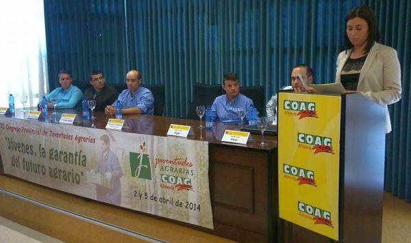 Paqui Ruiz secretaria juventudes de Coag Almería