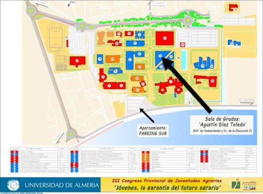 Plano del campus UAL