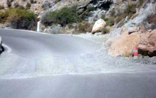 Uno de los tramos de la carretera de Turón