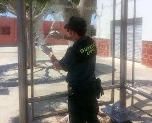 Guardia Civil vandalismo