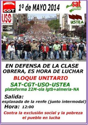 Convocatoria de la manifestación del Primero de Mayo