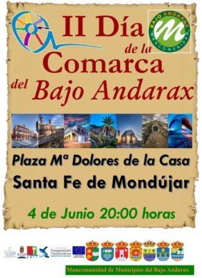 Cartel anunciador II Día de la Comarca del Bajo Andarax