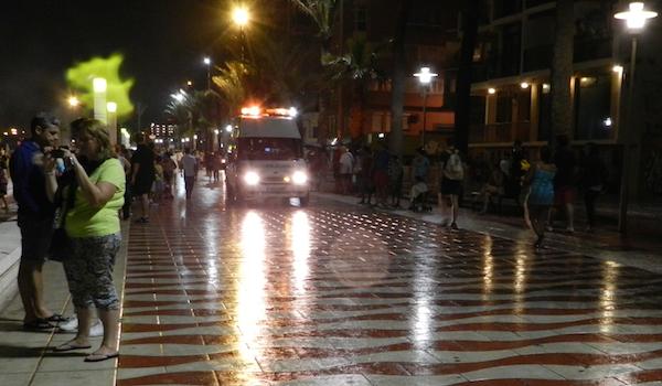 Hogueras de San Juan en Almería