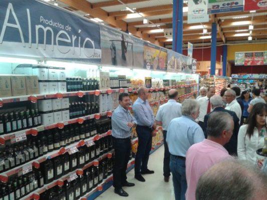 Pasillo central en donde se han reunido parte de las 300 referencias de Almería que se ofrecen en COPO