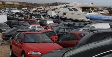 Deposito de coches