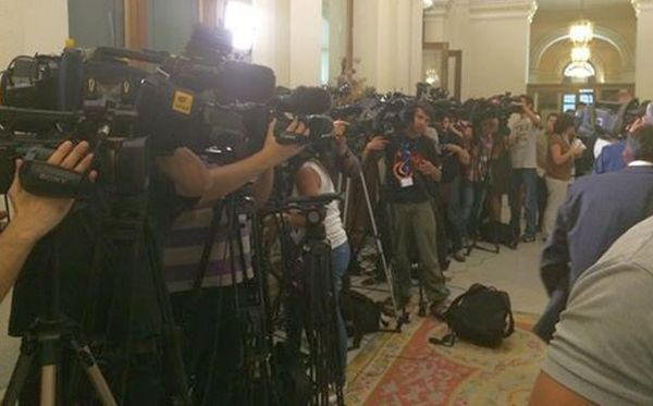 Espectación ante la comparecencia de la ministra tras la reunión con el sector en Madrid