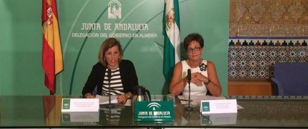 Las delegadas Sonia Ferrer y Adriana Valverde en rueda de prensa