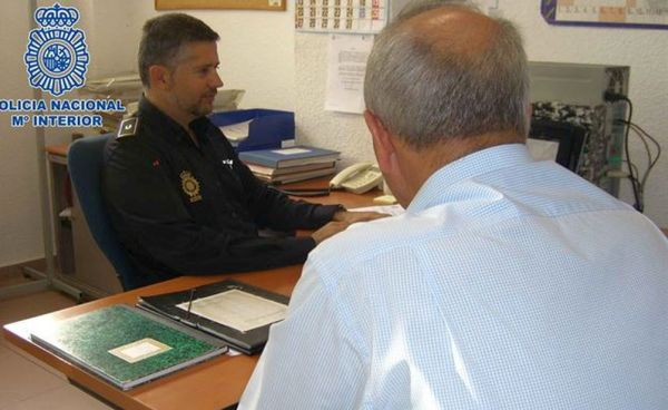 Detención policia nacional