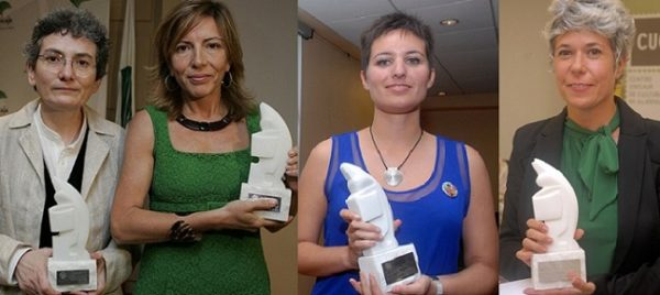 Yolanda Sobero, Susana Jiménez, June Fernandez y Marta Gómez, premiadas con el 'Colombine'