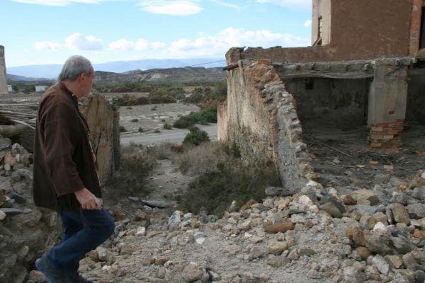 El británico Terri Gilliam, hace días en la provincia de Almería
