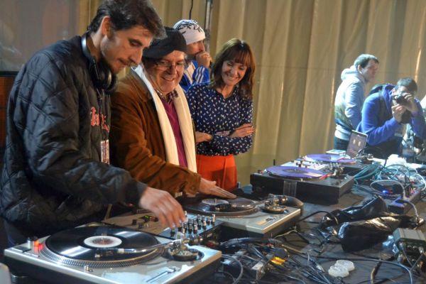 Para no perder la costumbre, el alcalde Antonio Bonilla no se perdió el evento