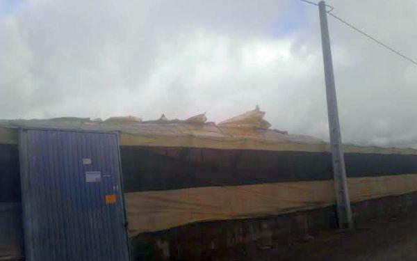 El viento ha rajado la cubierta de algunos invernaderos