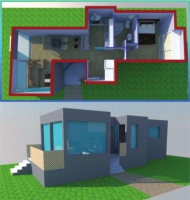 Vivienda unifamiliar de 55 m2