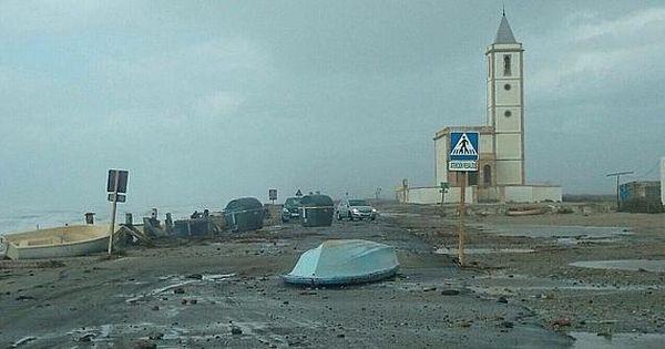 efectos de la tormenta en Cabo de GAta