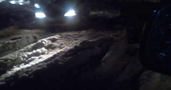 Imagen del estado de la carretera de San Agustín