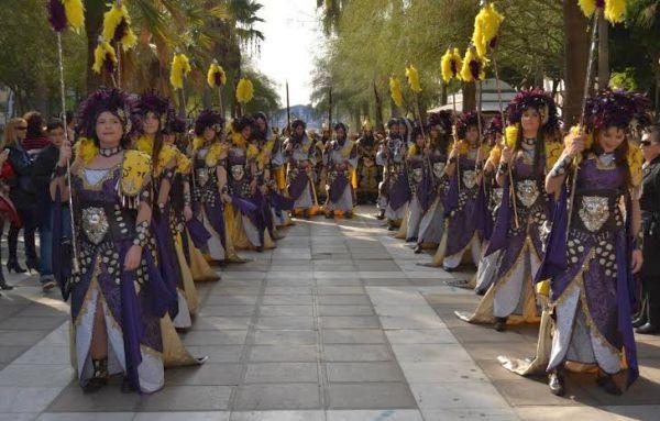 Escena de la fiesta de Moros y Cristianos en Gérgal