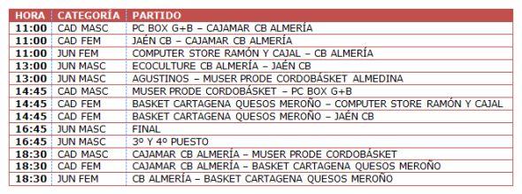 Calendario CB Almería