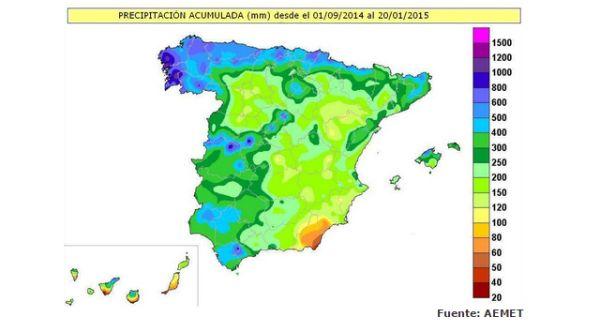 mapa pluviometria